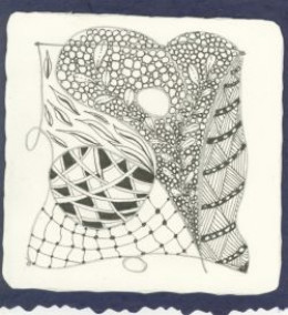 Zentangle almost done