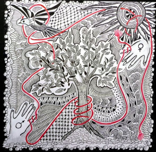 """Zentangle-Inspired """"Harmony"""" contributed by the talented KNM"""
