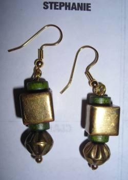 metal bead earrings
