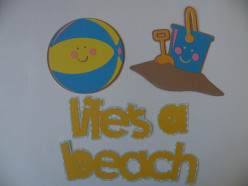 Easy to Make with a Cricut Summertime Beachtime Scrapbook Shapes