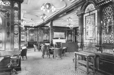 Olympic's First Class Smoking Room in 1912