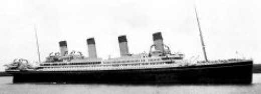 How RMS Britannic would have looked  on her maiden voyage as a White Star Ocean Liner