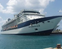 Celebrity Millennium, docked in Nassau