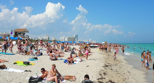 Beaches like this one in Miami get packed during the hugely popular summer months.