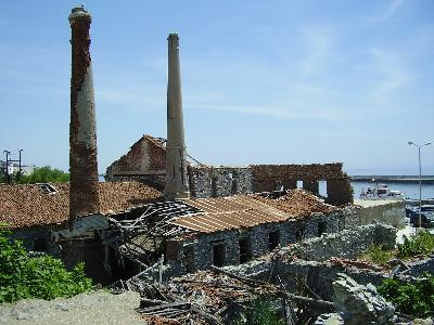 The ruins prove the great industrial history of Plomari