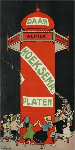 European poster kiosk