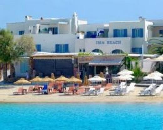 Iria Beach Hotel in Naxos, Agia Anna beach