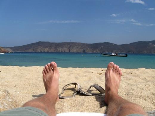 Paradise Beach, Mykonos. Clubbing till the sunrise