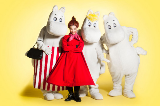 Character actors at Moomin World, Finland