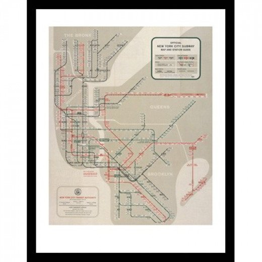 Official New York City Map and Station Guide - 1958