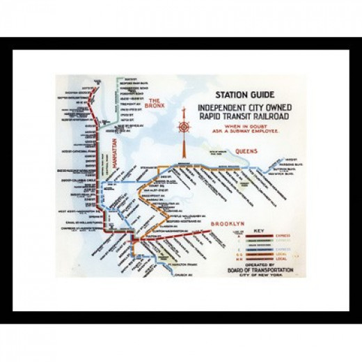 Station Guide: Independent City Owned Rapid Transit Railroad - 1938