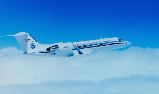 NOAA Gulfstream Hurrcane Hunter Airplane