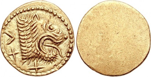 Ancient Etruscan gold coin