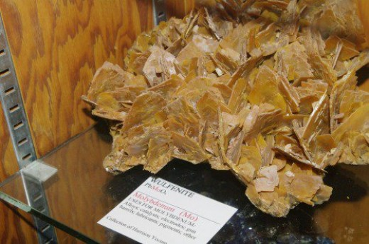 Wulfenite. It varies in color from this shade to bright orange.