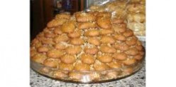 Greek christmas honey cookies or melomakarona