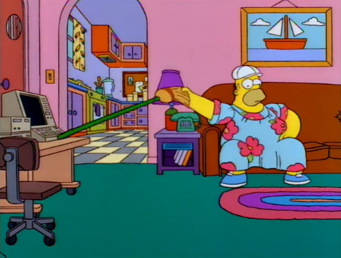 """Homer Simpson, sir. One of your chair-moisteners from sector 7-G."""