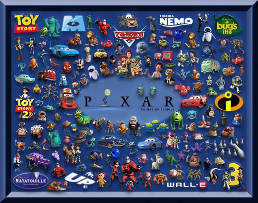 Collage of Disney Pixar Movies