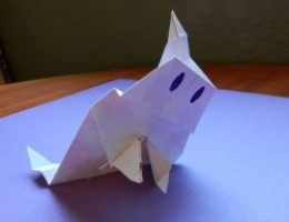 Paper fold ghost