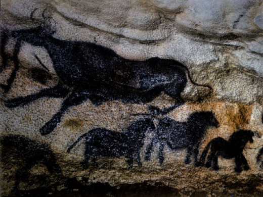 20,000 Year Old Lascaux Cave Painting - photo by Ralph Morse