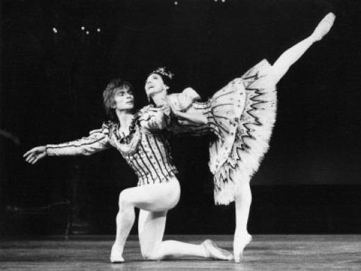 Margot Fonteyn and Rudolf Nureyev in Birthday Offering by the Royal Ballet at Royal Opera House  By  Anthony Crickmay