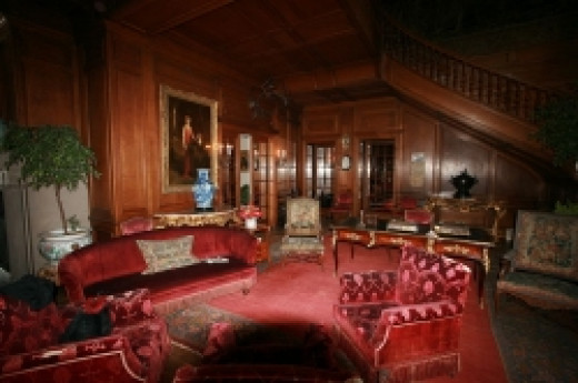 Entrance hall of the Mills Mansion