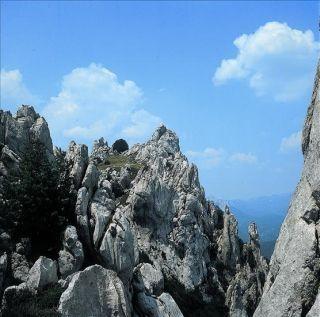 Mountain tops are pretty sharp! :)