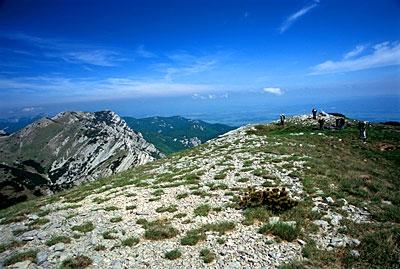 At the top of Vaganski Vrh (mountain peak).