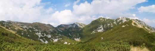 Panorama of Velebit mountain