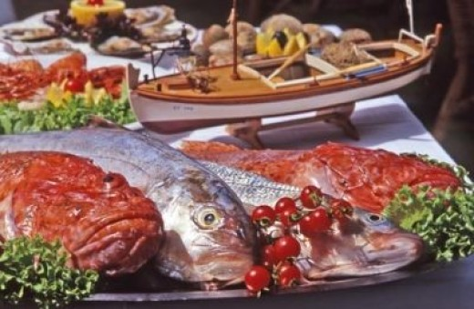Sea, fish and vegetables