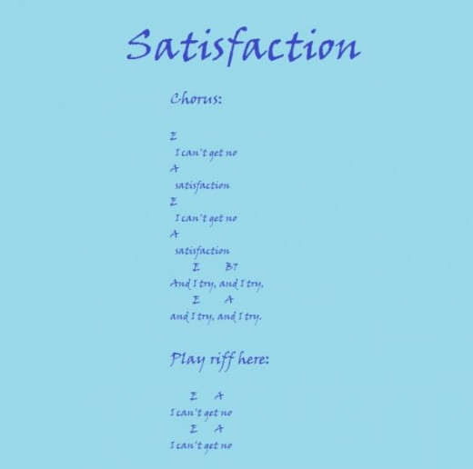 Satisfaction chords with lyric for personal  and educational use only.