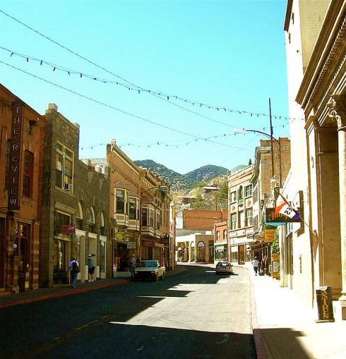Modern downtown Bisbee, Arizona