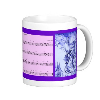 I am particularly proud of this design which has the melody of O Holy Night. You can play it while you wait for your coffee to cool and the tune will be right.