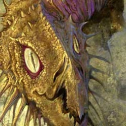 Fantasy dragon art and how I painted my own