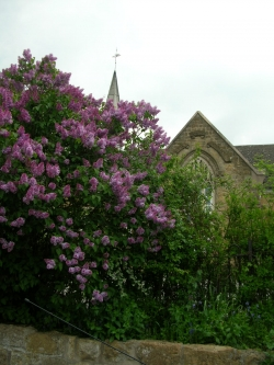 Please note, this photo of a village school in the North of England that I took is not the school in the book...