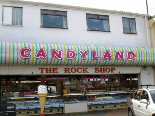 What day at the seaside could be complete without its candy floss and lettered rock. Cleethorpes in every bite of course!