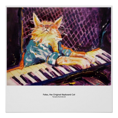 keyboard Cat Color Poster by charlieschmidt