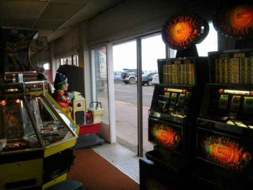 Inside the arcade....