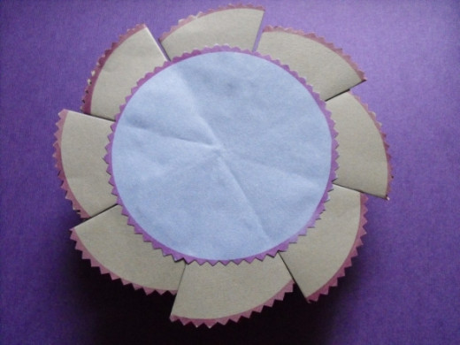 Back of paper decoration.