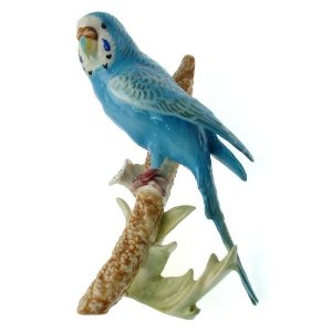 c1973 Goebel Budgerigar figurine - 3851218 - 7 inches in height - NEGR84