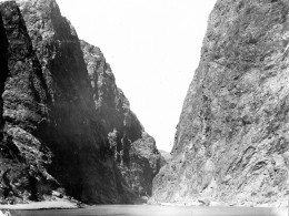 The site of the Hoover Dam before anything was built, taken in about 1900.