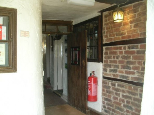 Entering the White Hart Hotel....