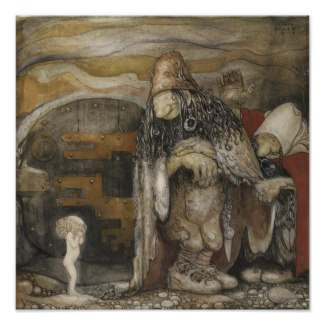 John Bauer Trolls Poster by MyOtherPlanet
