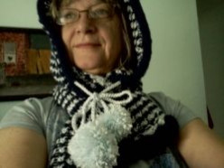 Learning to Knit: Knitting A Hooded Scarf
