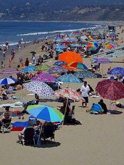 Santa Monica Beach by Jon Sullivan