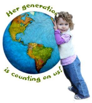 globe hugging child