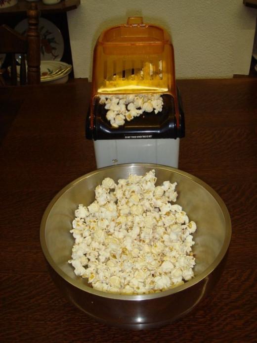 Air popcorn-popper