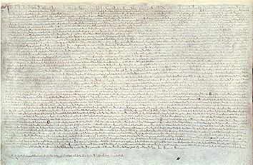 One of the original copies of the Charter