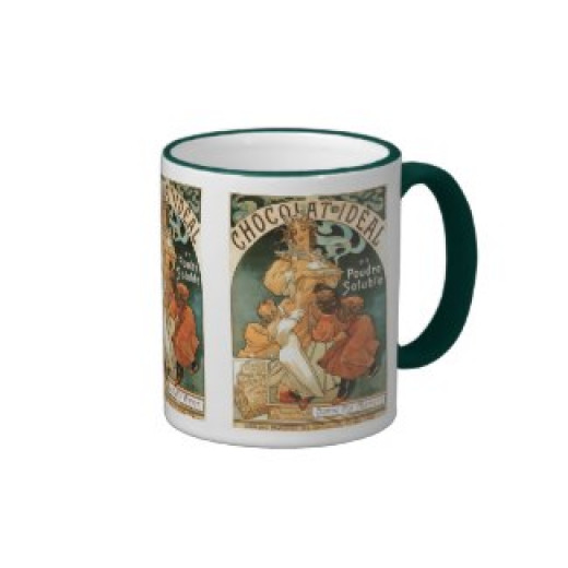 Alphonse (Alfons) Mucha Chocolat Ideal Coffee Mug by ArtNouveauDaz