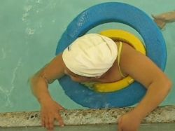 Child in the Pool with Cap