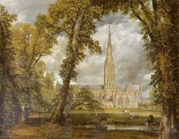 The famous painting by Constable. The Bishop and his wife can be seen in the bottom left hand corner